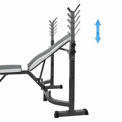 £89.99 • Buy Olympic Weight Bench Press Adjustable Incline Fitness Multi Dumbell Bicep Curl