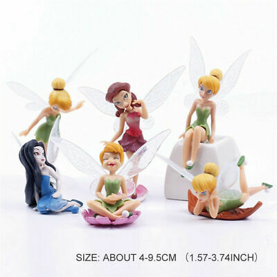 £4.99 • Buy 6 Tinkerbell Fairy Princess Miniature Dollhouse Figure Wing Cake Topper Doll Toy