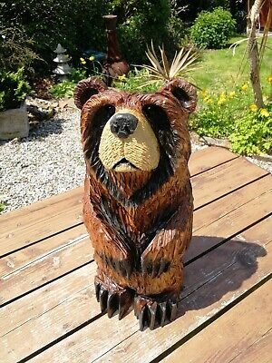 £150 • Buy Chainsaw Carved Grizzly Bear, Garden Sculpture