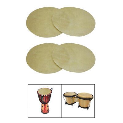 £26.67 • Buy 4x Buffalo Leather Drum Konka Drum Skin 29-31cm Percussion Replacement