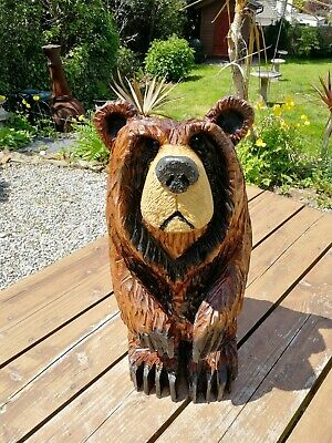 £145 • Buy Chainsaw Carved Grizzly Bear, Garden Sculpture