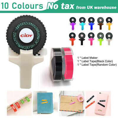 £8.79 • Buy Manual Embossing Label Maker Typewriter Printer Refill With Free 2 Roll Tapes UK