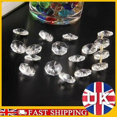 £2.99 • Buy 50xClear Cut Glass Crystals Beads Chandelier Spare Light Parts Bling Drops Kits