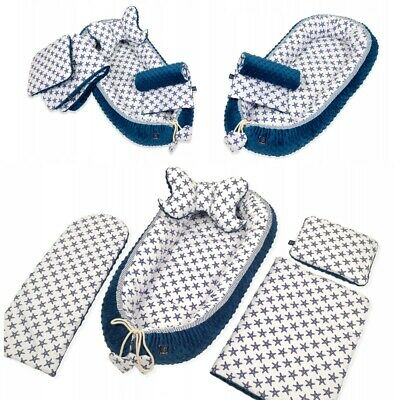 £99.12 • Buy Cocoon Bedding Set Portable Baby Nest Double-Sided Cradle Bassinet Blue Stars