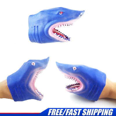 £5.99 • Buy Shark Hand Puppet Kids Toys Gift Animal Head Soft Rubber Glove Role Play Fun