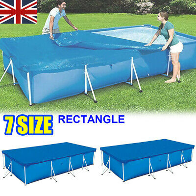 £15.89 • Buy Rectangle Swimming Pool Cover For Garden Outdoor Family Fast Pool Dust Proof