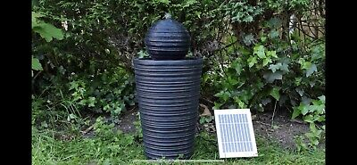 £124.99 • Buy Battery Backup Garden Outdoor Solar Powered Ball & Plinth Water Fountain Feature