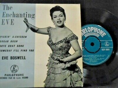 £15.99 • Buy EVE BOSWELL  E.P   THE ENCHANTING EVE   Or. UK PARLOPHONE EX+ COND.IN Or.PIC SL.