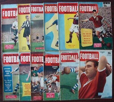 £49.99 • Buy CHARLES BUCHAN'S Football Monthly 1957 - Complete Set Of 12 Issues