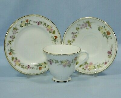 £7.99 • Buy Wedgwood Mirabelle Bone China Tea Cup Saucer & Side Plate Trio