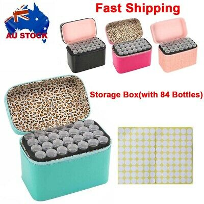 AU25.99 • Buy 84 Slot Diamond Painting Nail Art Accessories Box Embroidery Storage Holder Case