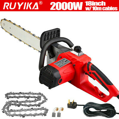 View Details 2000W 18'' Electric Chainsaw Aluminum Garden Wood Tool Cutter Saw Bar & Chain UK • 57.99£
