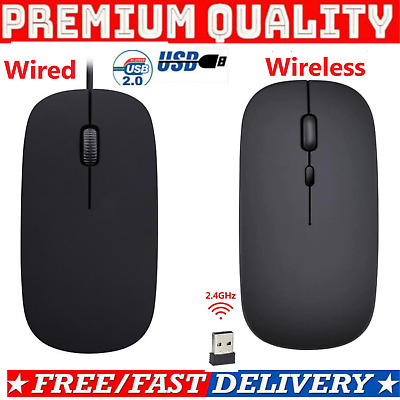 £4.95 • Buy Wired USB Optical Mouse,Wireless Mouse,Bluetooth Mice PC Dell Laptop Computer UK