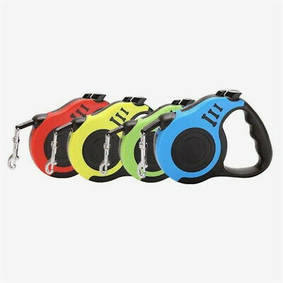 £6.99 • Buy Durable Dog Leash Retractable Nylon Lead Extending Puppy Walking Running Leads