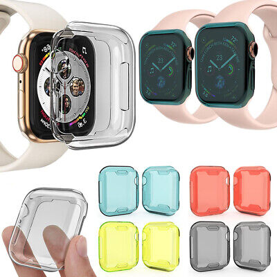 $ CDN1.95 • Buy Film Soft Cover Watch TPU Case Full Coverage For Apple Watch Series 4 40mm 44mm