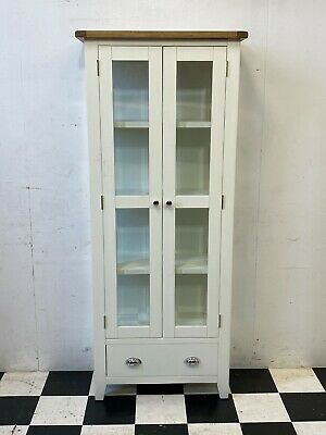 £95 • Buy Modern Chester White Painted Oak Top Shaker Display Cabinet RRP £379 - Delivery