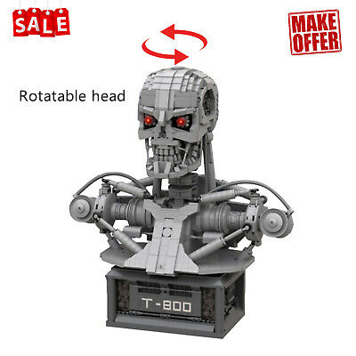 £159.99 • Buy Terminator T-800 Bust T-RIP With Power Function Motors Building Blocks Toys