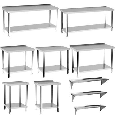 £65.95 • Buy Stainless Steel Work Top Commercial Heavy Duty Catering Table Bench Kitchen Prep