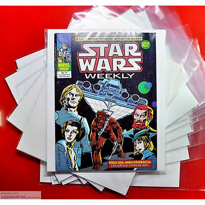 £12 • Buy Star Wars Comic Bags / Sleeves Only - For Comic Book Issue Fan Collections X 25