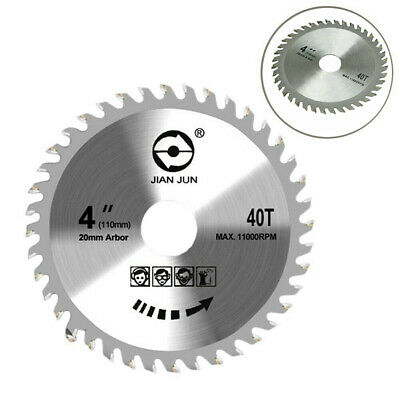 £3.88 • Buy 110mm Circular Saw Blade Disc Wood Cutting 4  40 Teeth Fits For Angle Grinder