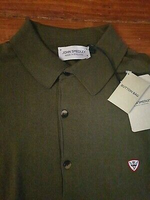 £24.99 • Buy JOHN SMEDLEY ROWFIELDS Mens Cotton Olive Polo Shirt Size Small BNWT RRP £150