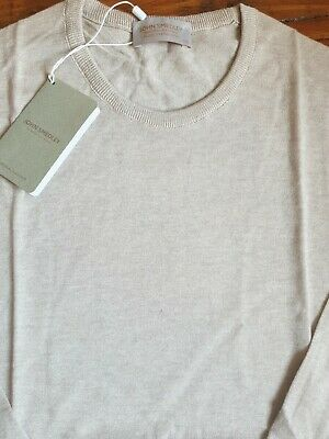 £39.99 • Buy JOHN SMEDLEY THEON Sandstone Cashmere Blend Pullover Size XXL BNWT RRP £170