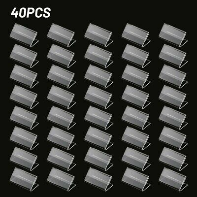 £11.22 • Buy 40pcs Clear Plastic Label Holders Sign Display Holder For Retail Price