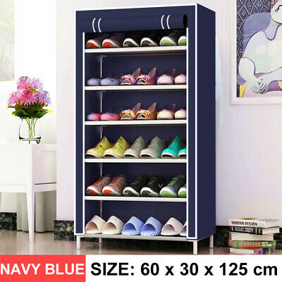 AU34.99 • Buy  7 Tier Shoe Rack Portable Organiser Stand Cabinet Wardrobe With Cover Dustproof