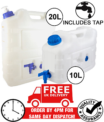 £11.89 • Buy Water Can Carrier Jerry Can Container Food Grade Plastic With Tap - 10l 20l
