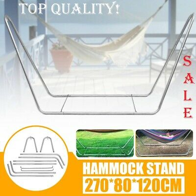 £211.69 • Buy Garden Hammock Chair Stand Portable Travel Camping Hanging Swing Metal Frame