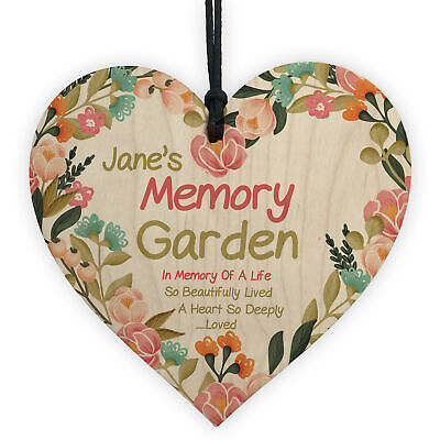 £4.99 • Buy Memory Garden Plaque Personalised Floral Memorial Sign For Mum Auntie Nan Gift