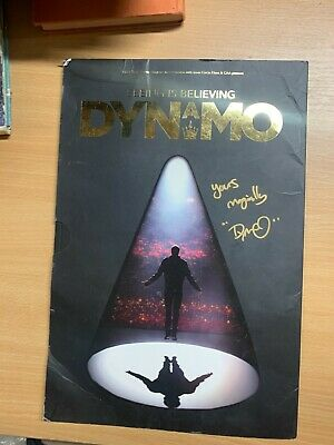 £8.99 • Buy Huge *signed* Dynamo  Seeing Is Believing  2015 Tour Programme Book (p3)