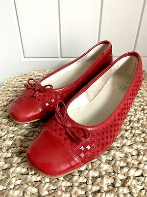£19.99 • Buy Riva Ballerina Shoes Red Leather Size 6 Brand New Italy