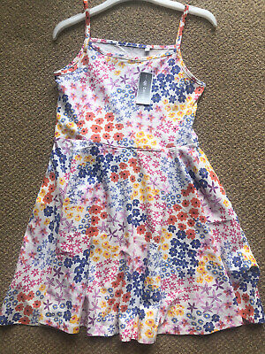 £12 • Buy Ditsy Floral Print Cotton Skater Dress Age 8 - 9  NEW With Tags Blue Zoo