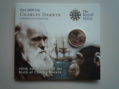 £22.99 • Buy The Royal Mint 2009 Charles Darwin £2 Coin Pack