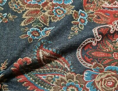 £4.49 • Buy Knit Jersey Fabric Border Paisley Printed 49  Wide