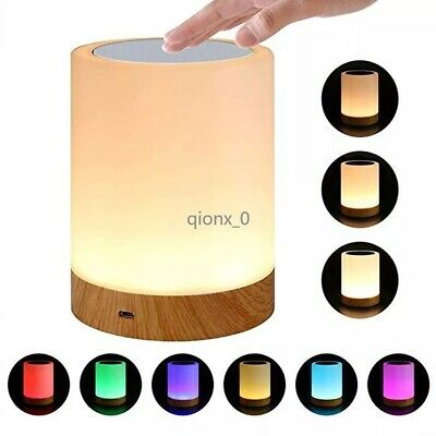 AU28.99 • Buy Touch LED Night Light Lamp Table Bedside Desk Mood USB Dimmable Rechargeable