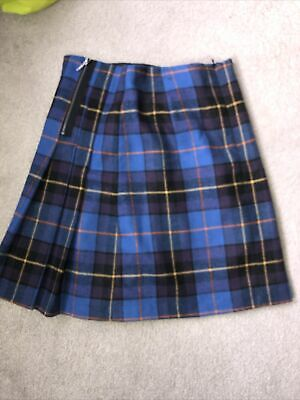 £2 • Buy Blue Checked Pleated Skirt