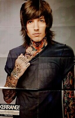 £9.99 • Buy POSTER Double Sided OLI SYKES/BRING ME THE HORIZON/ MY CHEMICAL ROMANCE KERRANG