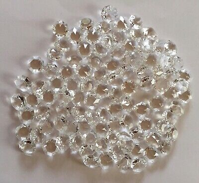 £12.50 • Buy 100 X 16mm Glass Octagons Chandelier Parts Spares Crafts