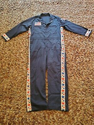$24.99 • Buy Vintage Mens Coveralls Made In USA, RED WHITE AND BLUE, Blended Navy Size 46R