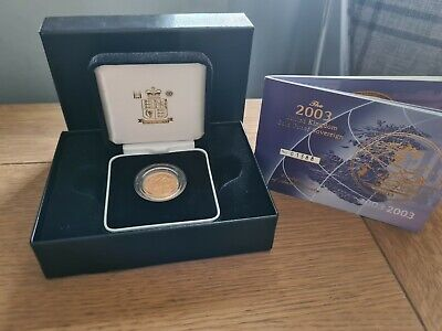 £500 • Buy 2003 St George And The Dragon Gold Proof Full Sovereign Coin Box Coa
