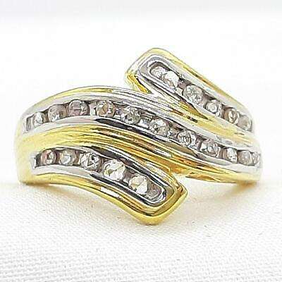 £26.20 • Buy .50ctw H-SI Diamond 14K Yellow Gold 925 Sterling Silver Cocktail Ring Size 7