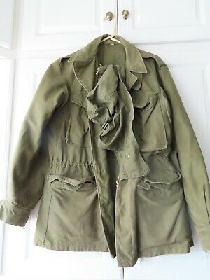 $69.99 • Buy Vintage Original WWII US Army M-43 Field Jacket Coat With Hood Size 34R