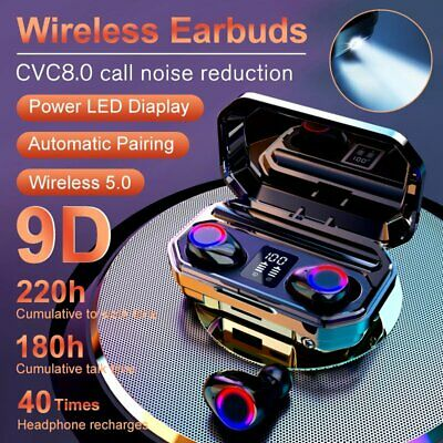 AU23.59 • Buy 8000mAh Bluetooth 5.0 TWS Earphones LED Wireless Earbuds Noise Cancelling Stereo