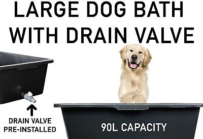 £26.99 • Buy DOG BATH/Pool For LARGER DOGS With Easy-to-Empty DRAIN Tap, For Inside & Outside