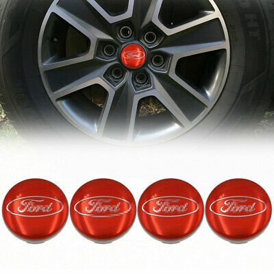 £7.89 • Buy 54mm Wheel Hub Centre Cap For Ford Fiesta Focus Alloy Badge Red Logo Cover 4pc