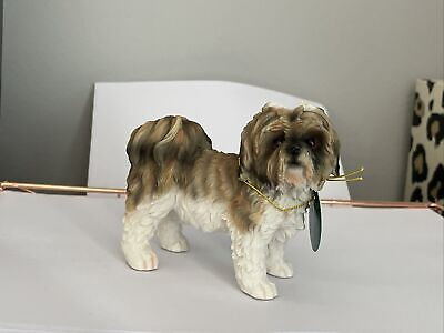 £14.99 • Buy Brown And White Shih Tzu Dog Ornament GIFT BOXED