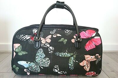 £17 • Buy Travel Bag Luggage With Wheels Trolley Butterfly Print