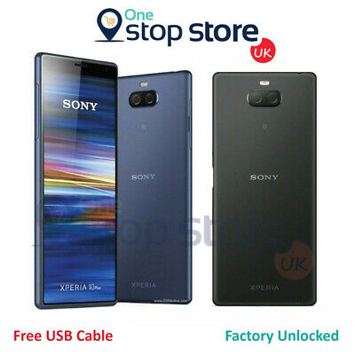 £139.95 • Buy Sony Xperia 10 64GB Unlocked Blue Black 4G LTE NFC Android Smartphone - I4113